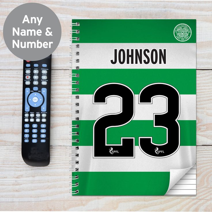 Personalised celtic a4 notebook in 2020 personalized