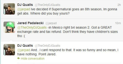 jared & dj qualls twitter wars are so funny ;)