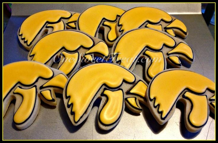 #Iowa Hawkeye (Football) cookies. OneSweetTreat.com