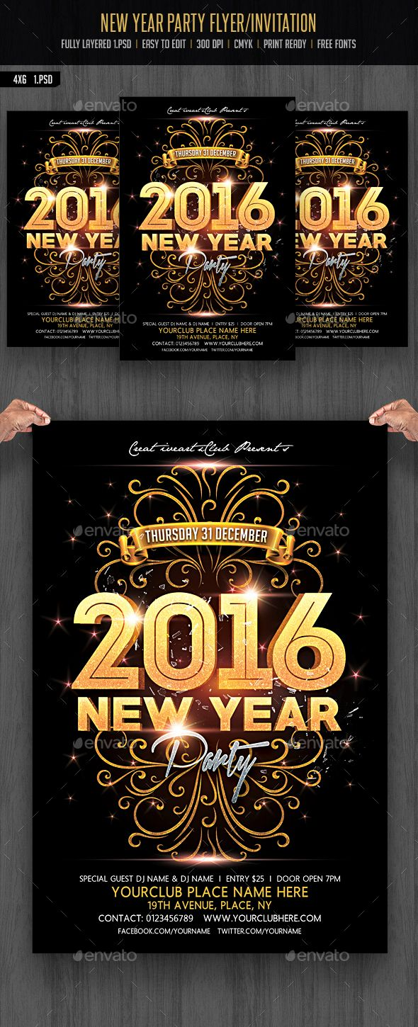 730 best birthday anniversary flyer template images on pinterest new year party pronofoot35fo Choice Image