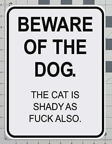 Beware of the Dog Sign, Organic Pet World Art Collectables