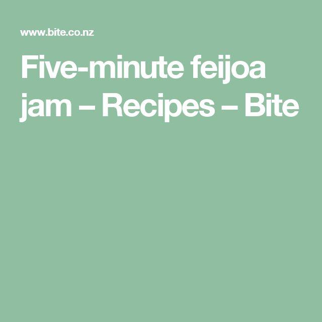 Five-minute feijoa jam – Recipes – Bite