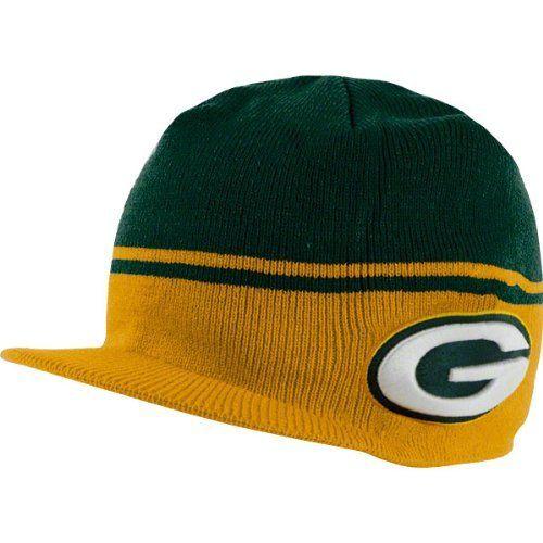 55e813ba Men's '47 Brand Green Bay Packers Powerback Visor Knit Hat One Size ...