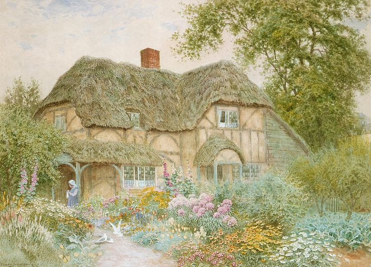 A Surrey Cottage Arthur Claude Strachan English 1865