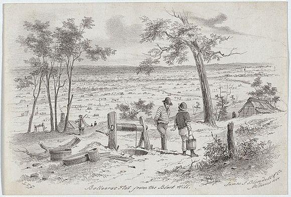 Ballarat Flat from the Black Hill GILL, S.T. 1855-56