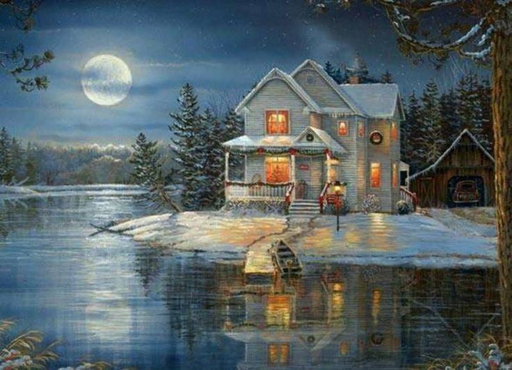 A beautiful Christmas and winter scene... | Christmas and ...