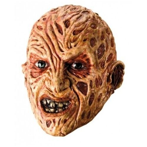 Halloween Freddy Krueger Mask vinyl Scary Face Head Horror Men One Size  #HalloweenParty