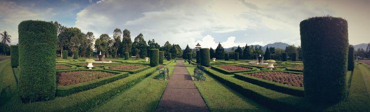 France Garden landscape at Taman Bunga, Bogor - Indonesia