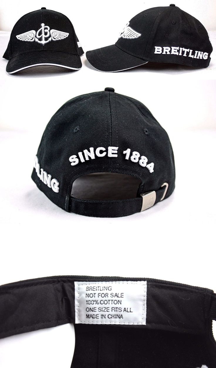 Hats 52365: Breitling Since 1884 Mens Black White Embroidered Adjustable Cap Hat (Ofc) -> BUY IT NOW ONLY: $42.95 on eBay!