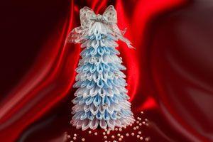 Como hacer un árbol de navidad con tul
