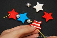 Patriotic Clay Beads craft