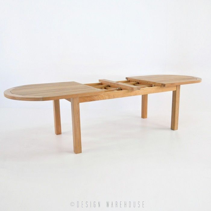 Capri Oval Teak Double Extension Tables - Dining Tables - Dining