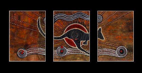Red Kangaroo Spirit of the Dreamtime by by DreamsofCreationAust