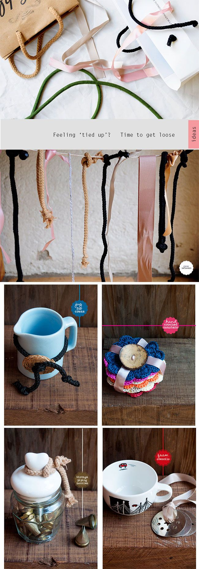 Using clever re-cycling tricks to glam up gifts! Try it!