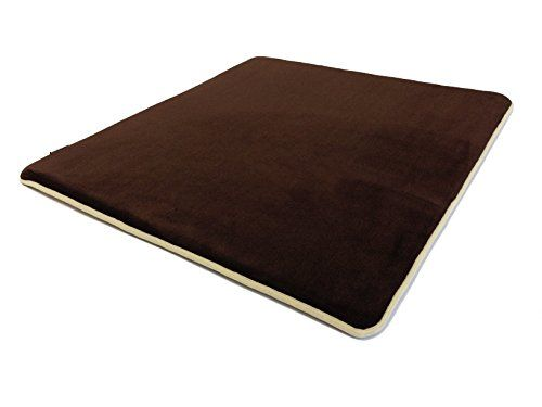 40x35x125 Memory Foam Coral Fleece Standard Mat Bed with Waterproof Anti Slip Bottom for Puppies and Dogs of all sizes Small Medium and Large Brown * For more information, visit image link.