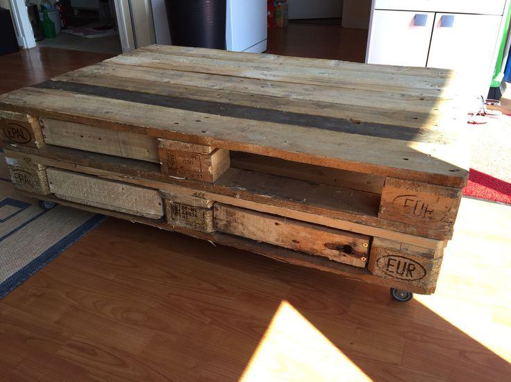 Table en palette en bois