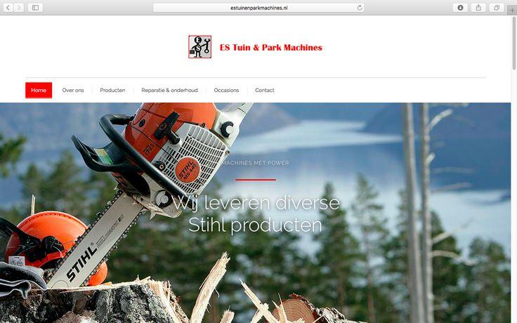 Logisch! heeft de website van ES Tuin & Park Machines in een nieuw en modern jasje gestoken. Bekijk het resultaat op www.estuinenparkmachines.nl