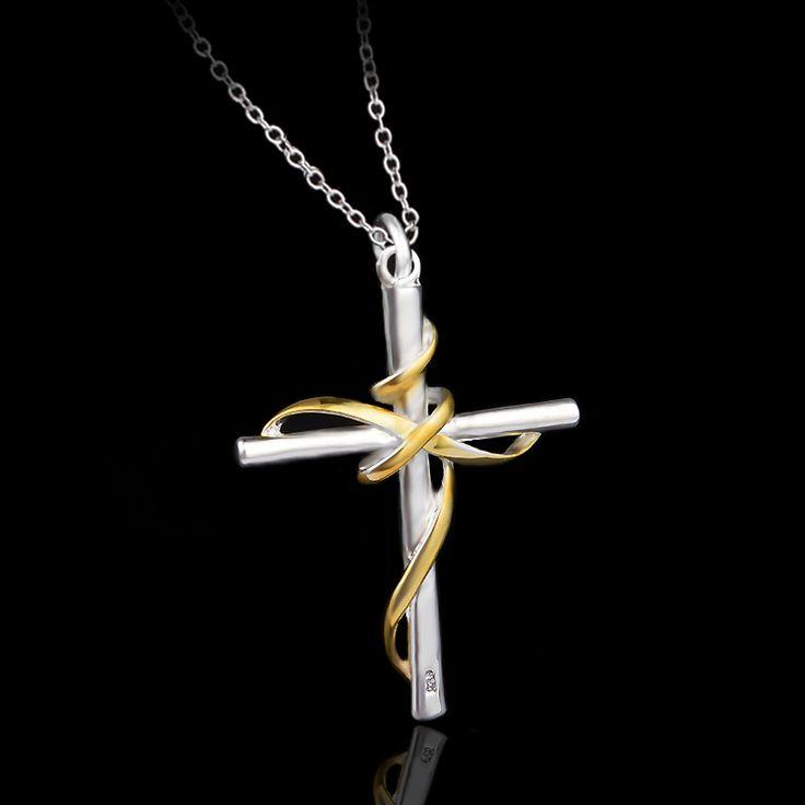 Croix Collier Femmes/Hommes Inoxydable Bijoux Dernier Cri En Gros 18 K Vrai Or Plaqué INRI Crucifix Jésus Pièce Croix Pendentif P39