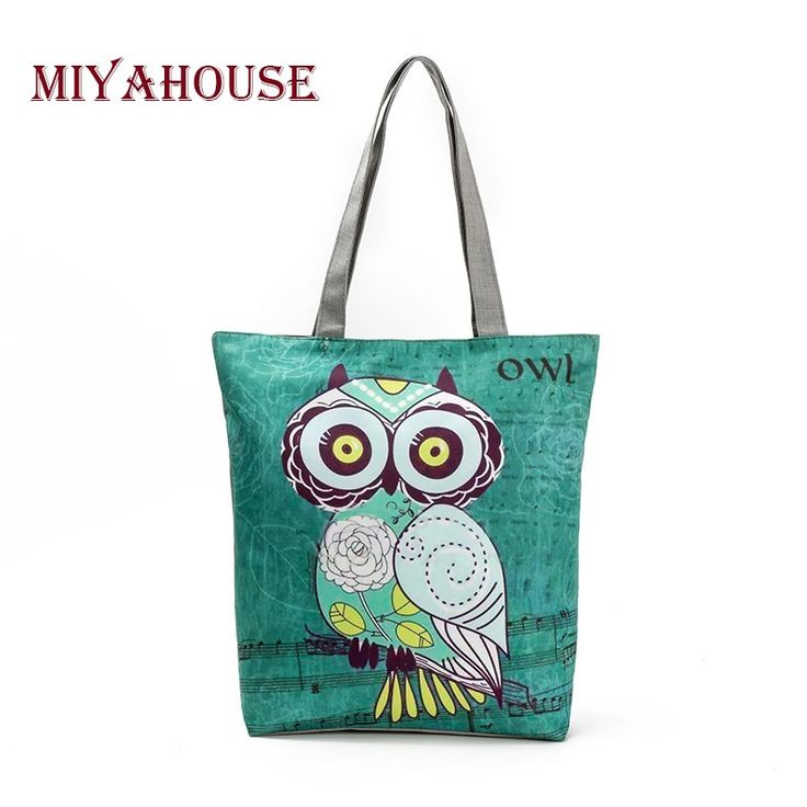 Miyahouse Cute Owl Printed Women's Casual Tote Large Capacity Canvas Female Shopping Bag Ladies Shoulder Handbag Beach Bag //Price: $10.99 //       #7DollarWearables    #amazing #girls #awesome #tagblender #party #repost #jj_forum #all_shots #night #followback #instago #school #harrystyles #sweet