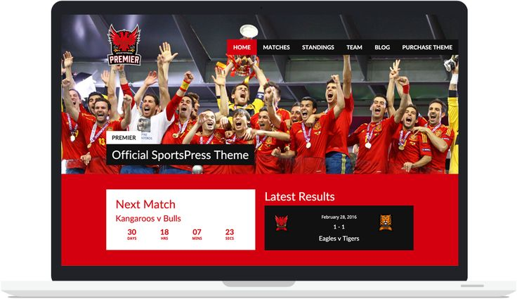 An exciting #WordPress theme designed specifically for #sports teams, clubs, and leagues. Premier is compatible with the #SportsPress #plugin by ThemeBoy.  #WordPressTheme #WordPressPlugin