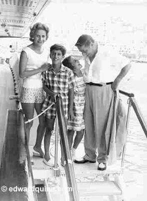 The Onassis family: Tina, Alexander, Christina and Ari