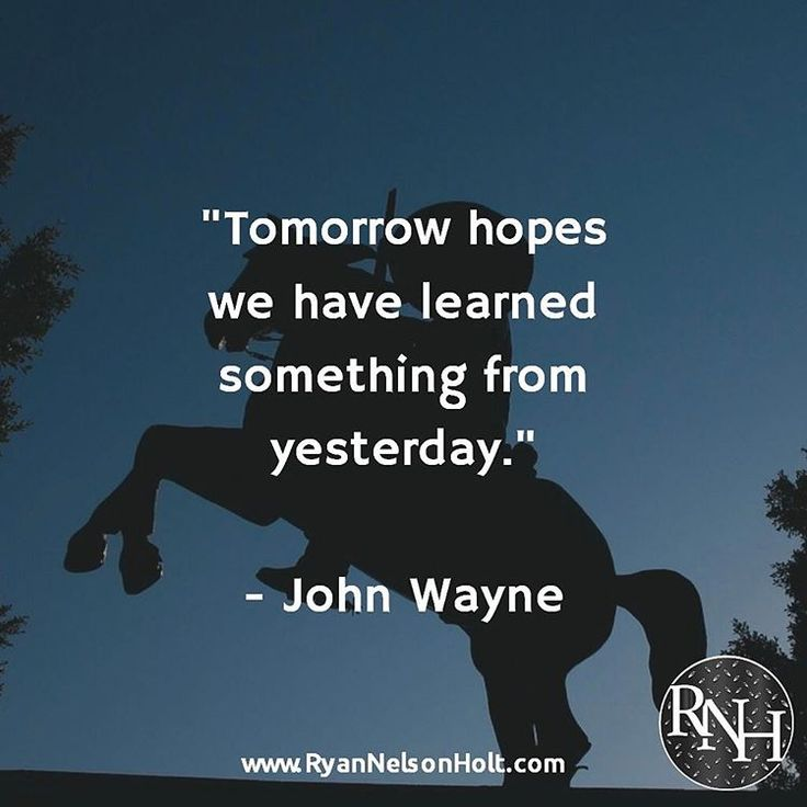 """""""Tomorrow #hopes we have #learned something from yesterday."""" - John Wayne #quote #quotes #hope #hopequote #hopequotes #learn #teacher #teacherlife #teaching #carpediem #seizetheday #seizethemoment #layitallontheline #thetimeisnow #todayistheday #livethedream #live #livelife #liveinthemoment http://quotags.net/ipost/1492313397249006333/?code=BS1wyDQlVr9"""