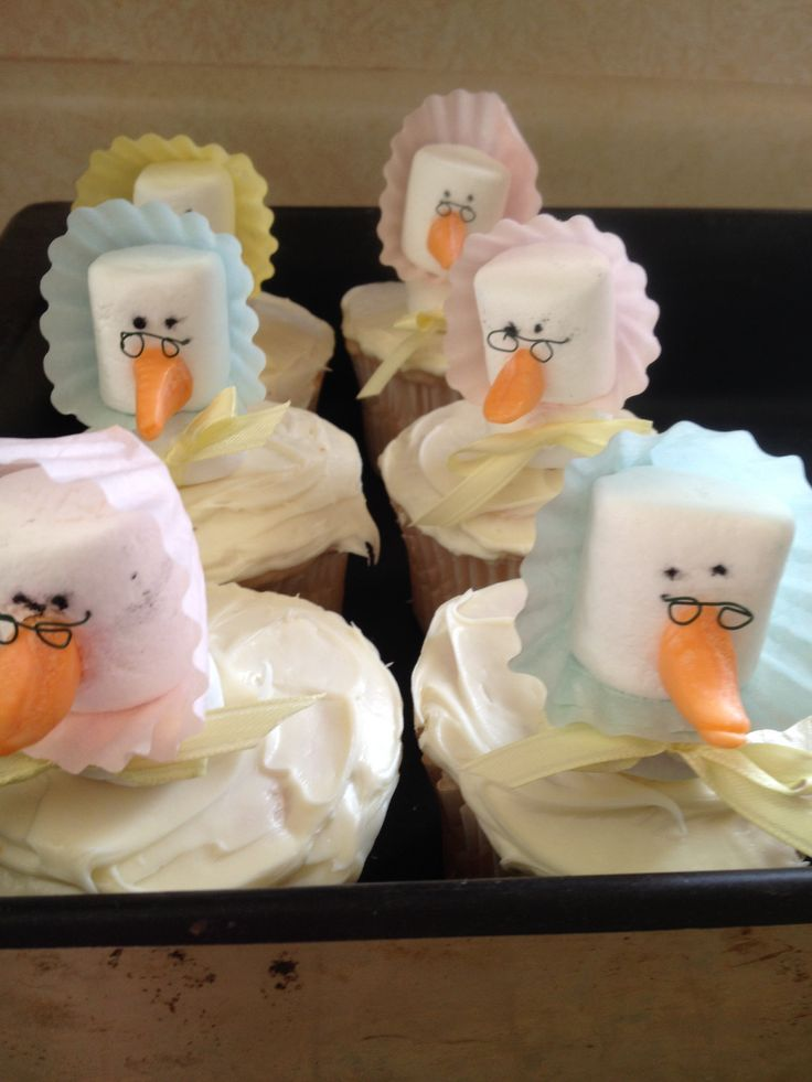 Mother goose cupcakes with marshmallows!   Mother Goose ...