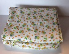 Vintage JCPenney Percale No Iron King Size Sheet Set Cottage Style Floral NWOT