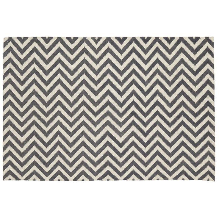 5 x 8' Chevron Rug (Grey)