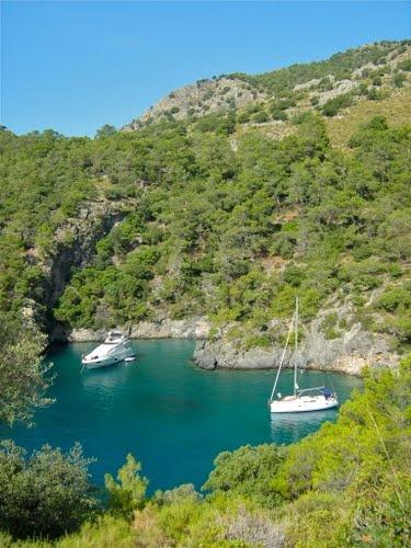 Cold Water Bay, near Kayakoy , Turkey.