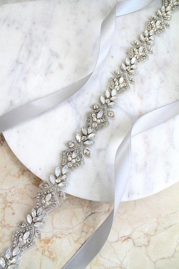 Wedding Belts Bridesmaid Dresses Pearl Bridal Accessories Beaded Elegant Classy