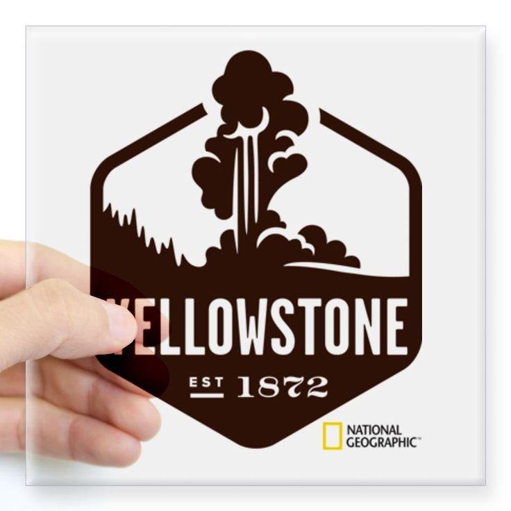 Cafepress yellowstone square sticker 3 x 3 standard clear