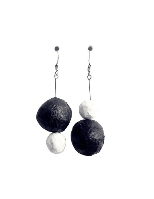 two black and white - earrings