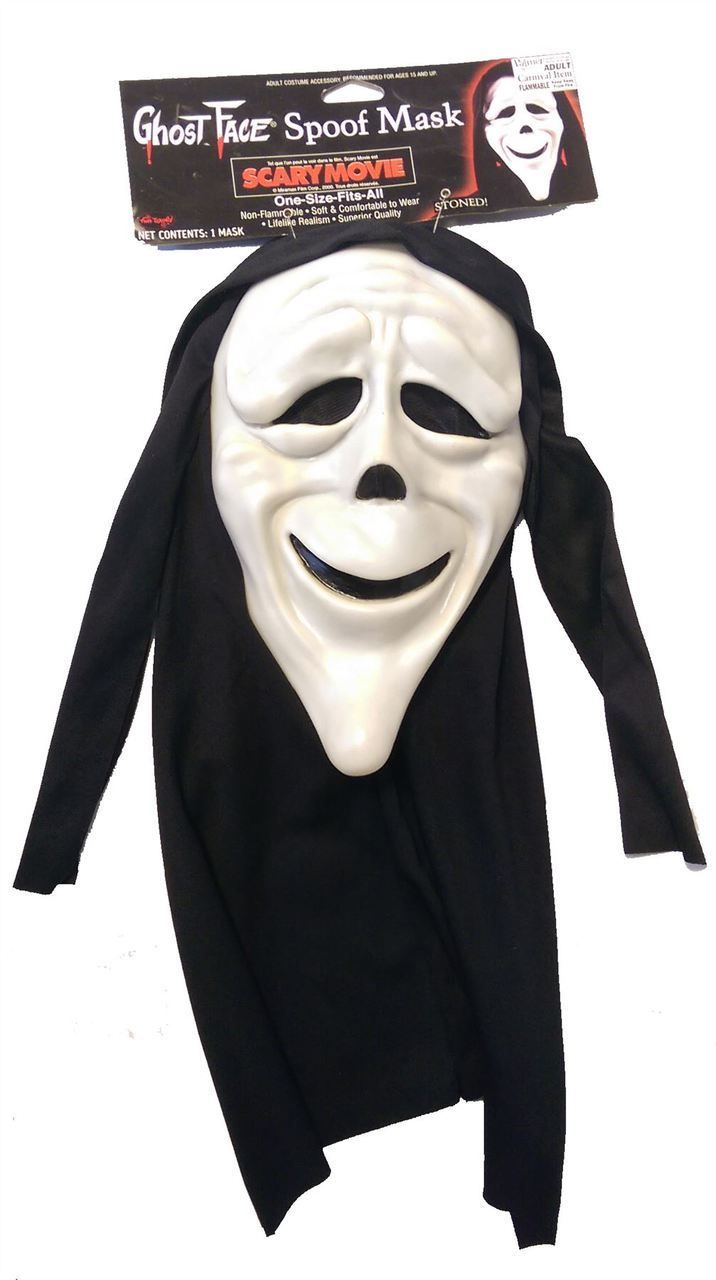 Stoned Scream Scary Spoof Movie Licenced Halloween Mask - Dragons Den Fancy Dress Limited