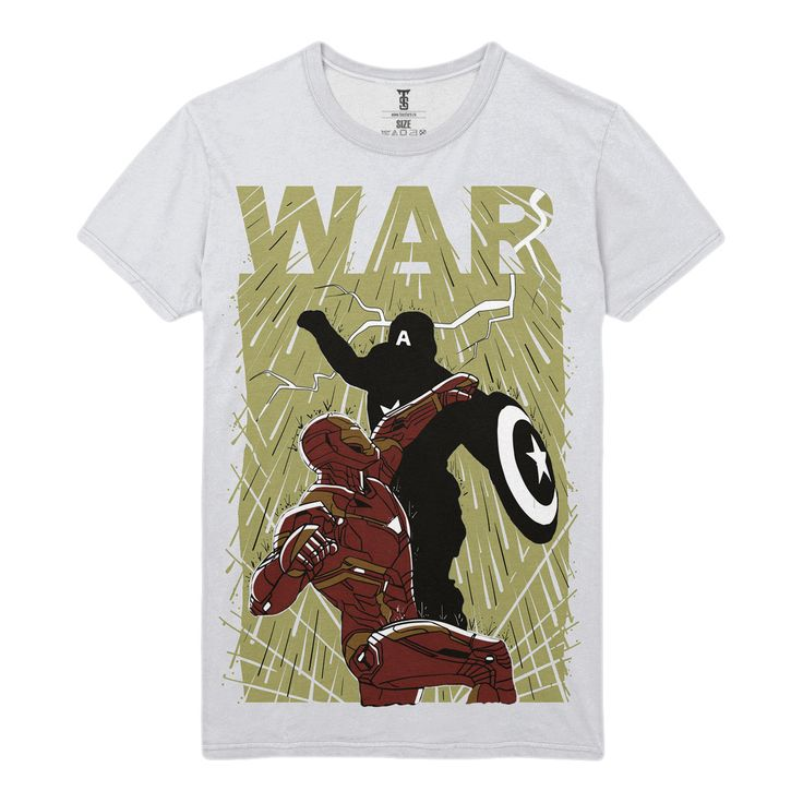 The unique T-shirt Civil War Iron Man Captain America Avengers War Infinity  -  T-shirt Merch Civil War Apparels Buy You can get longsleeve or t-shirt, even tanks for boys and girls. Just picks the size of your favourite apparel and put the item to a basket.