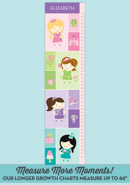 Designed for your spunky little diva, our Best Friends Growth Chart features a quartet of best friends playing in the garden, baking, playing dress