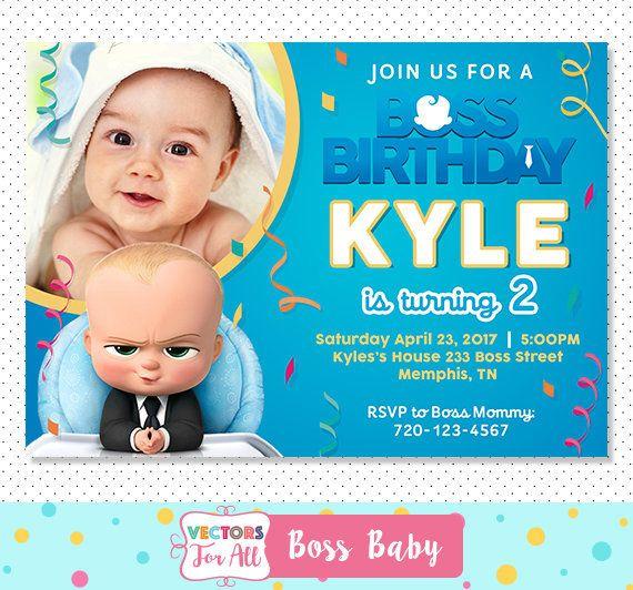 32 best kids birthday invitations images on pinterest digital boss baby invitation boss baby party boss baby invite boss baby birthday by stopboris Images