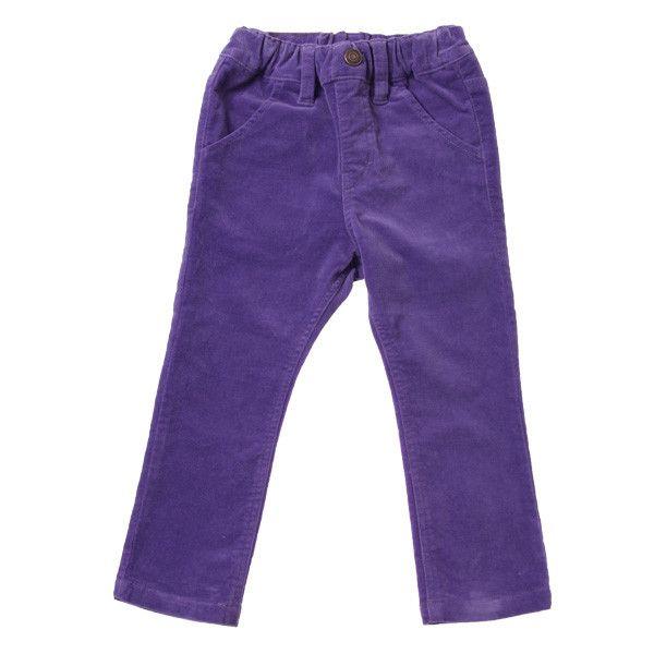 Velveteen Skinny Pants - Purple