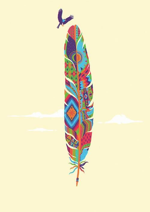 Pluma tribal | Feathers = plumas | Pinterest