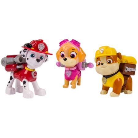 Nickelodeon Paw Patrol - Action Pack Pups 3pk Figure Set Marshal, Skye, Rubble - Walmart.com