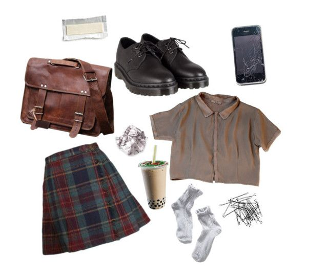 """""""untitled #3"""" by freckled-ghost ❤ liked on Polyvore featuring Dr. Martens, H&M and 1937"""
