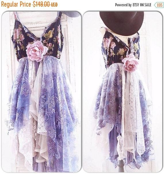 Cyber Monday M L Sexy holiday Boho Gypsy Spell dress Bohemian