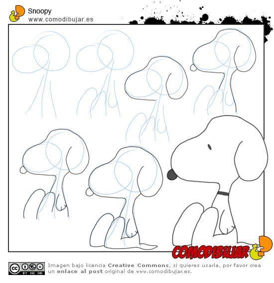 Como dibujar a Snoopy en 5 pasos