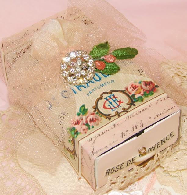 Embellished matchbox.