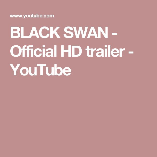BLACK SWAN - Official HD trailer - YouTube
