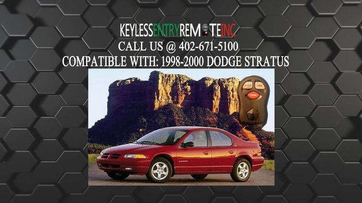 Dodge Stratus Keychain at Oklahoma City 73156 OK.  Dodge Stratus Keychain This video will show you How To Replace Dodge Stratus Key Fob Battery 1998 1999 2000 To Order This Remote Visit:  or call us at 402-671-5100 The brand-new Magnum is a great looking vehicle that will get your neighbors...