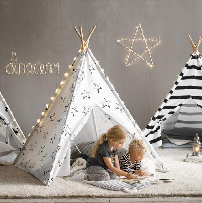 restoration hardware baby&child furniture teepee with stars