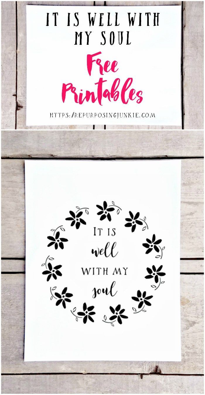 graphic about It is Well With My Soul Printable titled It Is Nicely With My Soul Cost-free Hymn Printables Printables