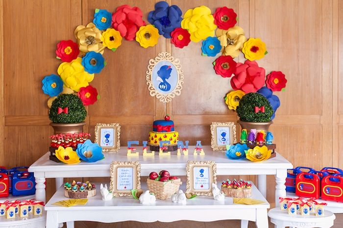 Colorful Snow White Birthday Party Snow White Birthday Party