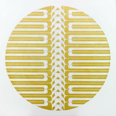 "Fabulous Contemporary Art from New Zealand! Gold Foil Art Print ""Bones"""